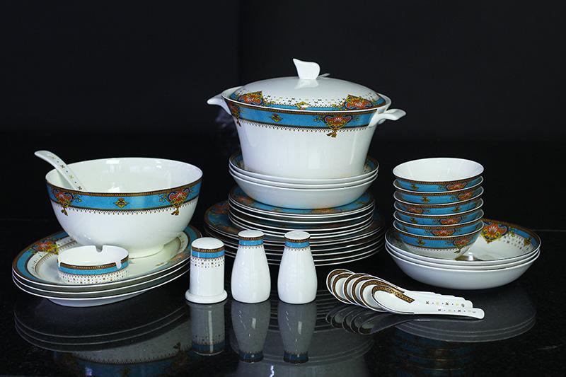 Bộ đồ ăn Sứ Xương Cao Cấp Fine Bone China - set11