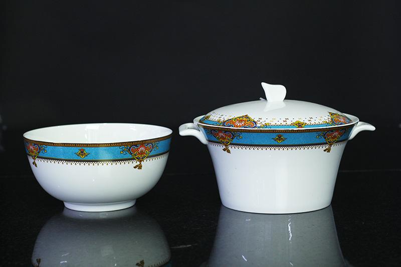 Bộ đồ ăn Sứ Xương Cao Cấp Fine Bone China - set14