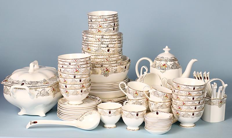 Bộ đồ ăn Sứ Xương Cao Cấp Fine Bone China - set15