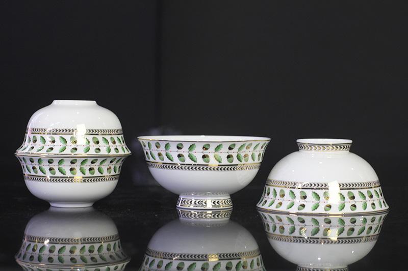 Bộ đồ ăn Sứ Xương Cao Cấp Fine Bone China - set7