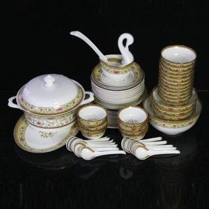 Bộ đồ ăn Sứ Xương Cao Cấp Fine Bone China - set21