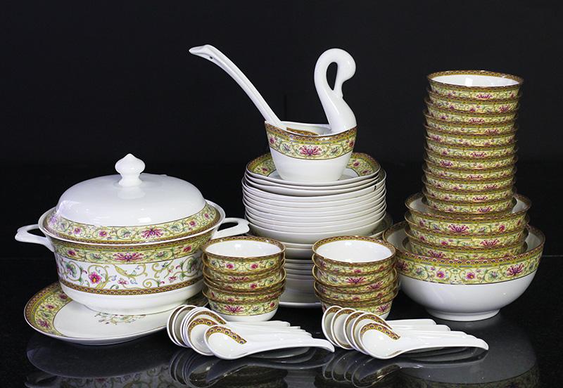 Bộ đồ ăn Sứ Xương Cao Cấp - set21