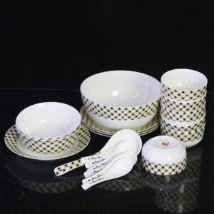Bộ đồ ăn Sứ Xương cao cấp fine Bone China - set23