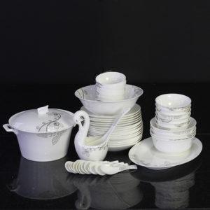 Bộ đồ ăn Sứ Xương Cao Cấp Fine Bone China - set35 - vesion 2
