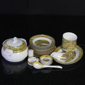 Bộ đồ ăn Sứ Xương Cao Cấp Fine Bone China - set37 - tết thanh minh