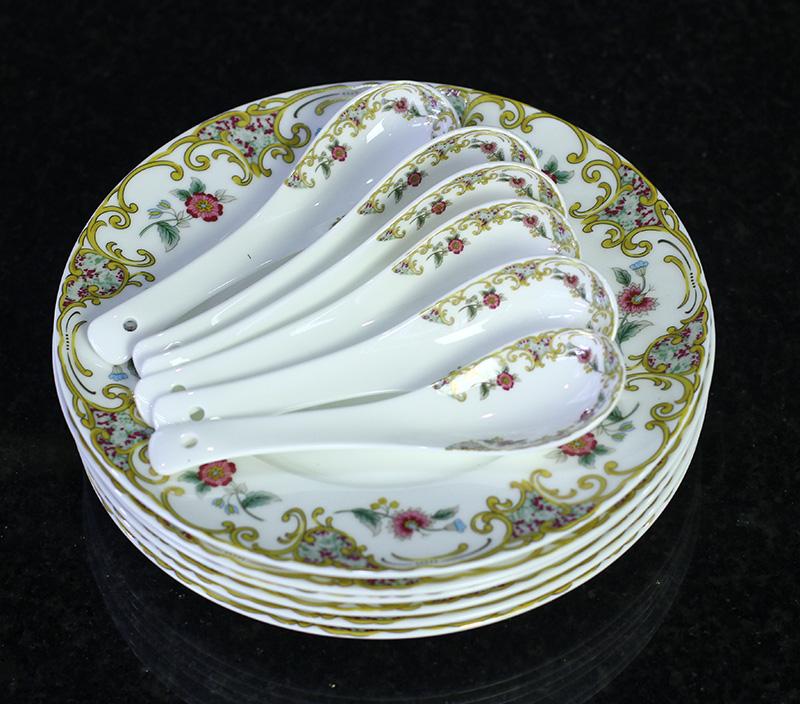 Bộ đồ ăn Sứ Xương Cao Cấp Fine Bone China - set9