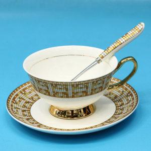 Tách uống trà sứ xương Châu Âu